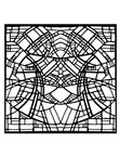 Stained Glass Adult Coloring Book Page