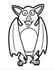 Bat Coloring Book Page