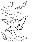 Bats Coloring Book Page