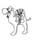Camel Coloring Book Page