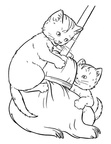 Kitten Coloring Book Page