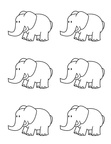 Elephant Craft and Activities Coloring Book Page