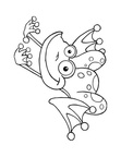 Frog Coloring Book Page