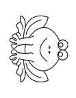 Simply Frog Toddler Pre-School Coloring Book Page