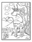 Cute Giraffe Coloring Book Pages