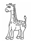 Simple Giraffe Toddler Coloring Book Page