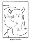 Hippopotamus Hippo Coloring Book Page