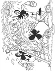 Alice and Wonderland Coloring Book Page