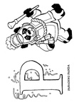 P Panda Animal Alphabet Coloring Book Page