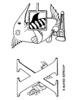 X Swordfish Xiphias Animal Alphabet Coloring Book Page