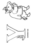 Y Yak Animal Alphabet Coloring Book Page