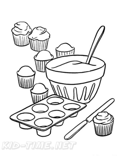 Cupcake love - Cupcakes Adult Coloring Pages | 594x459