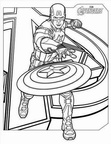 Captain America Coloring Book Page