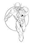 The Flash Coloring Book Page