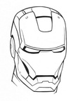 Iron Man Coloring Book Page