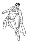 Superman Coloring Book Page