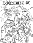 Wolverine X-Men Coloring Book Page