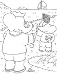 Babar Coloring Book Page