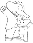 Babar and the Adventures of Badou Coloring Book Page