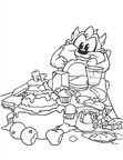 Baby Taz Baby Looney Tunes Coloring Book Page