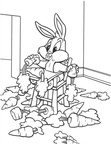 Baby Bugs Baby Looney Tunes Coloring Book Page