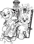 Chase Paw Patrol Coloring Book Page