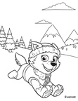 Everest Paw Patrol Coloring Book Page