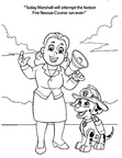 Marshall Paw Patrol Coloring Book Page
