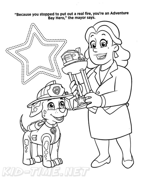 Mayor Free Coloring Pages