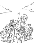 Paw Patrol Coloring Book Page