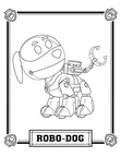 Robo Dog Paw Patrol Color Book Page