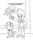 Rocky Paw Patrol Coloring Book Page