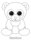 Bamboo Bear Beanie Boo Coloring Book Page