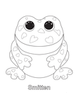 Smitten Frog Beanie Boo Coloring Book Page