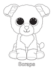 Scraps Dog Beanie Boo Coloring Book Page