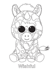 Wishful Unicorn Beanie Boo Coloring Book Page