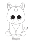 Magic Unicorn Beanie Boo Coloring Book Page