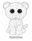 Speckles Leopard Beanie Boo Coloring Book Page