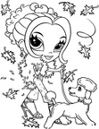Lisa Frank Doll Coloring Page