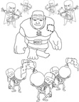 Clash of Clans Coloring Book Page