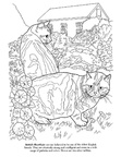 British Shorthair Cat Breed Coloring Book Page