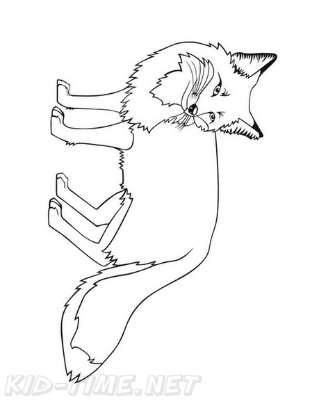 Fox Coloring Book Page | Free Coloring Book Pages Printables