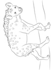 Hyena Coloring Book Page
