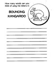 Kangaroo Craft and Activities Coloring Book Page
