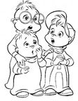 Alvin and the Chipmunks Coloring Book Page