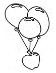 Balloons Basic Shapes Toddler Beginner Coloring Book Page