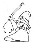 Witch Basic Shapes Toddler Beginner Coloring Book Page