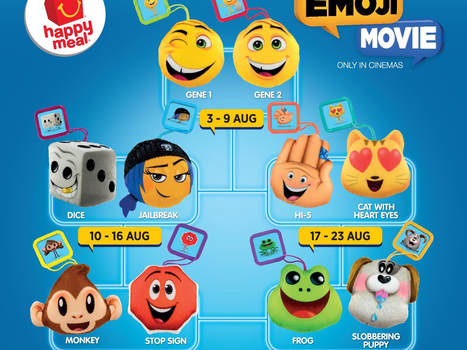 the emoji movie-2017-mcdonalds-happy-meal-toys