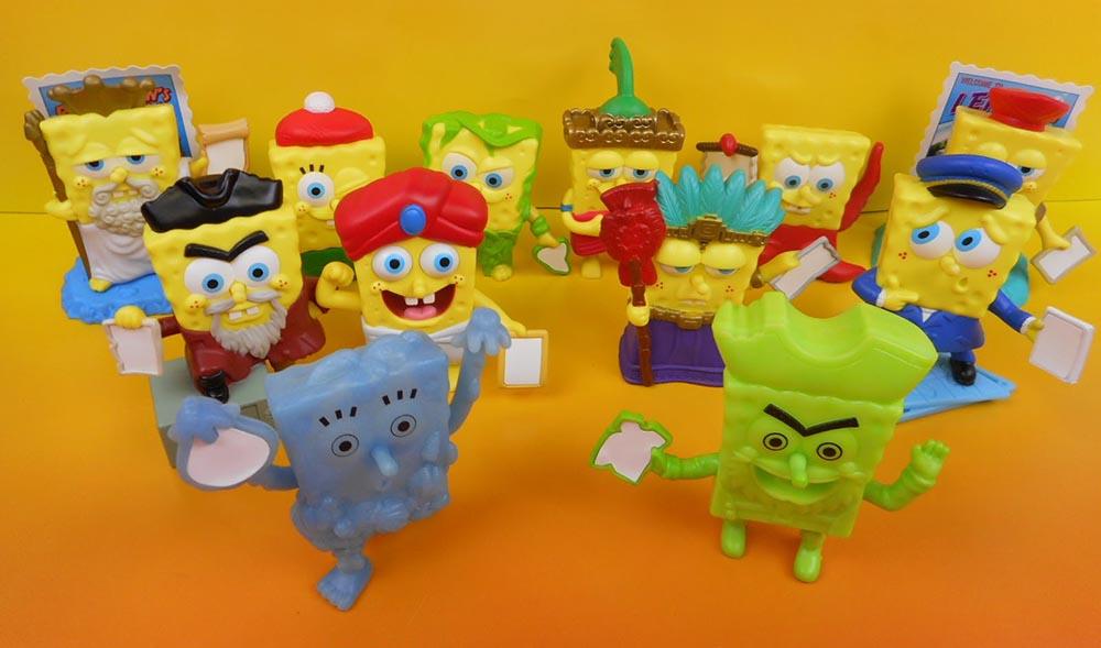 Burger King Jr Meal Toys 2007 Spongebob Atlantis Kids Time