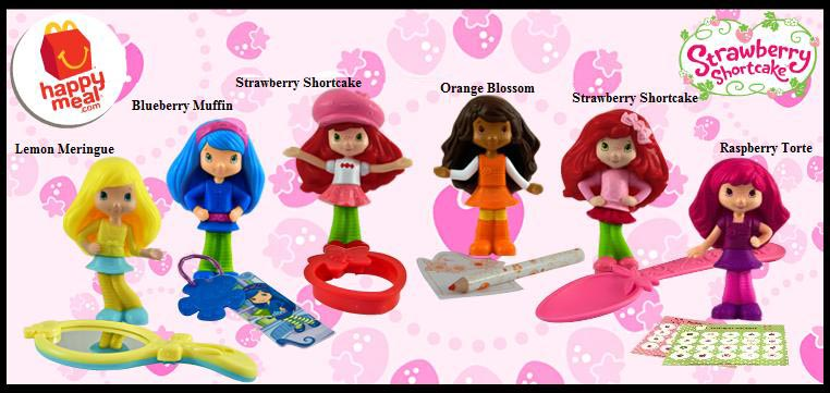 McDonald/'s Strawberry Shortcake Raspberry Torte #6 2010 Happy Meal toy figure